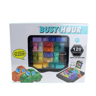 AU28.89 • Buy Fun Rush Hour Traffic Jam Logic Busy Hour Puzzle Game For Kids Toys Gifts AB8