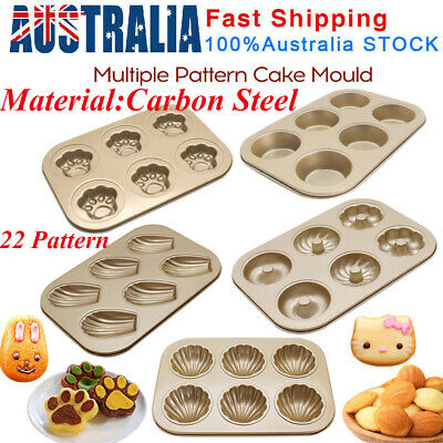AU14.60 • Buy 3D Carbon Steel Cake Moulds Ice Tray Candy Cookie Chocolate Baking Mold Decor AU