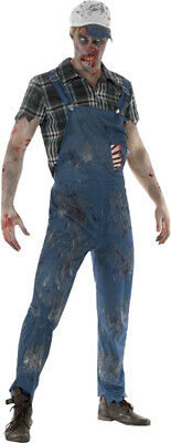 £31.49 • Buy Men Adult Fancy Dress Halloween Party Male Scary Hillbilly Zombie Costume Outfit