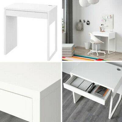 Ikea Micke Work Station Table Desk For Home Office Computer White 73x50 Cm • 69.98£