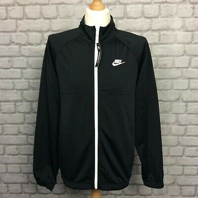 Nike Mens Poly Full White Zip Track Top No Piping Jacket Rrp £59 • 32.50£