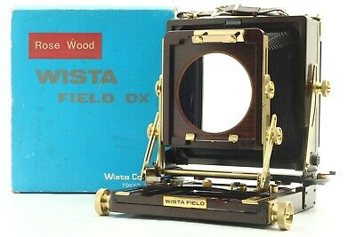 [N Mint+++ / Box] Wista Field 45DX 4x5 Rose Wood Large Format Field Camera JAPAN • 930.23£