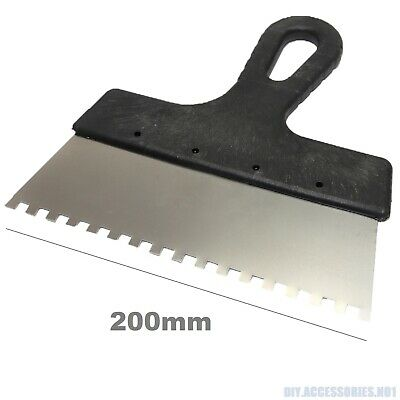200mm 6x6 Tiling Adhesive Glue Spreader Square Notched Teeth Serrated Comb Tile • 2.99£