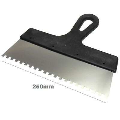 250mm 6x6 Tiling Adhesive Glue Spreader Square Notched Teeth Serrated Comb Tile • 3.45£