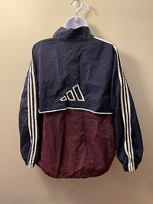 $ CDN44.51 • Buy Vintage ADIDAS Windbreaker Jacket Full Zip XL