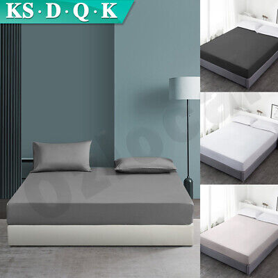 AU20.99 • Buy Ultra Soft Fitted Sheet King/Queen/Double/King Single Bed Sheets Pillowcase Set