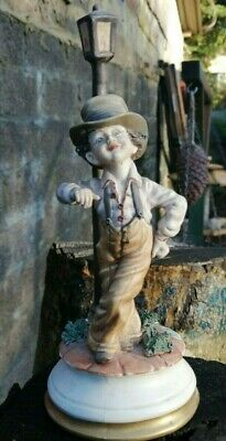 $ CDN76.71 • Buy Vintage Capodimonte Boy Leaning On A Lamp Post Porcelain Figurine Signed Milio
