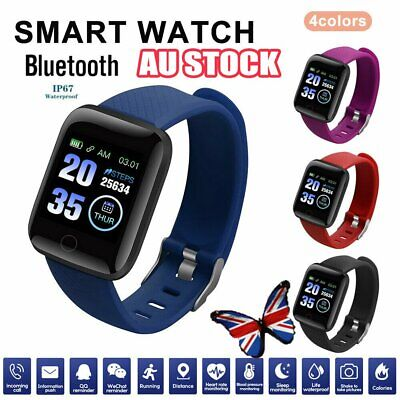AU12.96 • Buy Smart Watch Band Sport Activity Fitness Tracker For Kids Fit For Android IOS AU