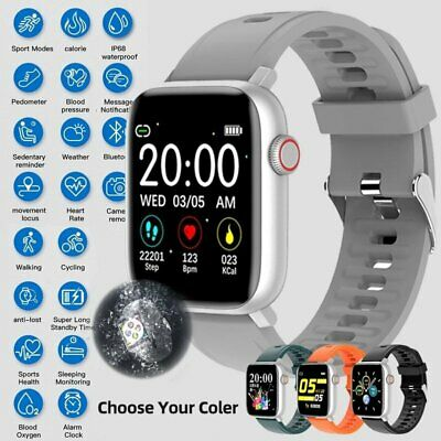 AU45.99 • Buy Smart Watch Android Blood Pressure Heart Rate Monitor Fitness Tracker Waterproof