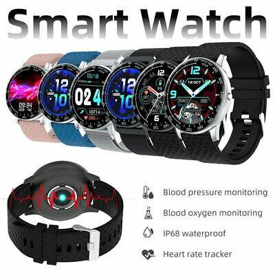 AU41.79 • Buy Smart Watch Android Fitness Tracker Blood Oxygen Pressure Heart Rate For IPhone