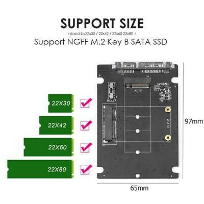 2 In1 MSATA To SATA NGFF M.2 To SATA3 Converter Adapter Card SSD Hard Disk Drive • 8.15£