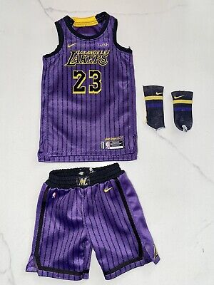 $64.99 • Buy 1/6 Lakers Lebeon James City Edition #23 Jersey Set For ENTERBAY - USA SELLER
