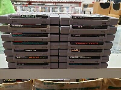 $ CDN79.99 • Buy Lot Of 14 Crappy Snes Games. Sports. Family Fued, Jeopardy. Cart Only.