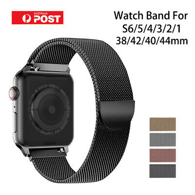 AU6.99 • Buy For Apple Watch Series 6 5 4 3 2 1 SE Stainless Steel Milanese Strap Band 40 44