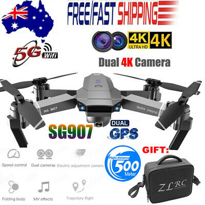 AU214.84 • Buy SG907 GPS Drone With 4K HD Dual Camera WIFI FPV RC Quadcopter Foldable Drone