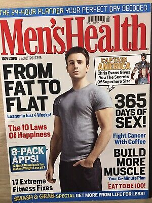 Men's Health Magazine- August 2011- Chris Evans Cover • 4£