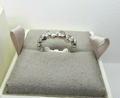 Clogau Silver & Rose Gold Celebration Ring Size P 1/2 RRP £89 • 55£