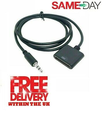 £2.65 • Buy AUX Audio Jack Cable To 30 Pin Adaptor Converter For IPod IPhone IPad 4s Dock UK