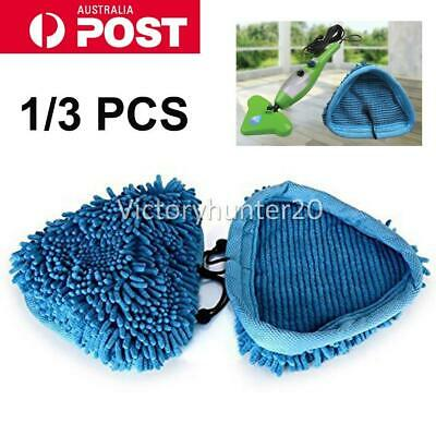 AU11.95 • Buy 1-3X H2O Steam Mop Cleaner Pads Replaced For Bissell Steamboy Chenille Washable