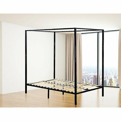 AU278.97 • Buy 4 Four Poster Queen Bed Frame - Black
