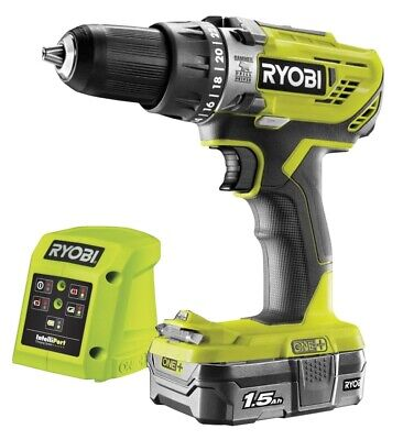 Ryobi  R18PD3-0 18V Cordless Percussion Drill With 1 X 1.5Ah Battery And Charger • 84.95£