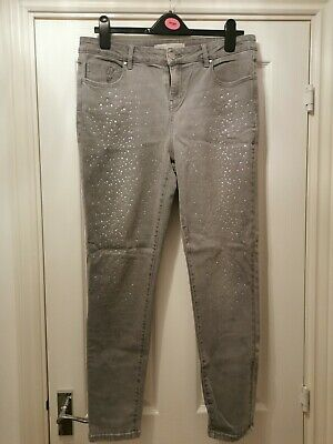 Grey Sequin Jeans Size 16 • 8£