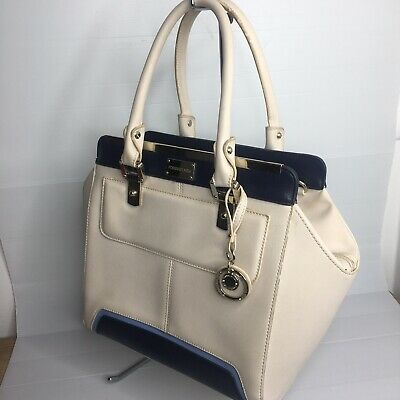AU23.99 • Buy Forever New Tote Womens Handbag Large Zip Up Two Toned Bag