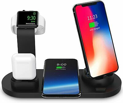 $ CDN20.38 • Buy 4in1 Wireless Charging Station Dock Charger Stand For Apple Watch IWatch IPhone