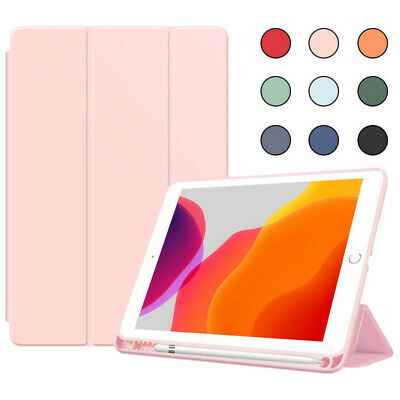 AU18.99 • Buy Slim Smart Folding PU Leather Stand Case Cover With Pencil Holder For Apple IPad