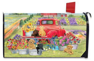 $16.99 • Buy Spring Day Puppies Magnetic Mailbox Cover Dogs Standard Briarwood Lane