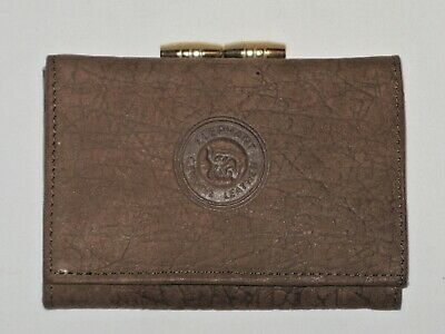 Elephant Genuine Leather Chocolate Brown Suede Leather Wallet / Purse • 9£