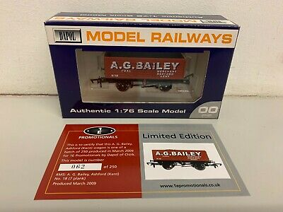 Dapol / 1E Promotional 7 Plank Coal Wagon 'A.G.BAILEY Ashford / Kent' - Boxed • 19.50£