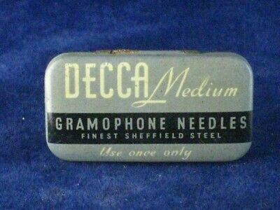 39940 Old Antique Vintage Gramophone Needle Tin Box Record Player Decca • 10£