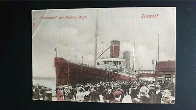 £3 • Buy Cruise Liner Campania And Landing Stage, Liverpool Hartmann Postcard