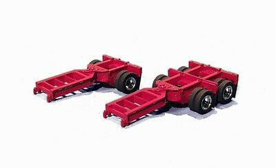 DCM 71019 Set Of 2 Lowboy Booster Dollies Red For Trailer Load 1/50 Die-cast New • 20.52£