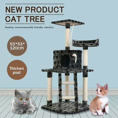 AU49.90 • Buy 120cm Cat Tree Scratching Post Scratcher Tower Condo House Furniture Bed Stand