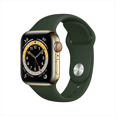 $ CDN796.30 • Buy Apple Watch Series 6 40mm Gold Stainless Steel Cyprus Green Ban Cellular M02W3LL