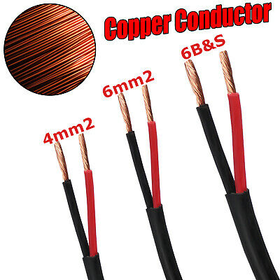 AU17.82 • Buy Twin Core Wire Cable 4mm 6mm 6 B S Electrical 2 Sheath Cables Caravan 4X4 12V