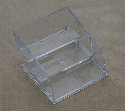£4.89 • Buy 3 Part Business Card Holders Acrylic Clear Display Stand Counter Desk Reception