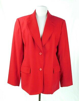 £12.13 • Buy Chadwicks Size 16 100% Wool Red Suit Blazer Jacket Fully Lined Perfect Condition
