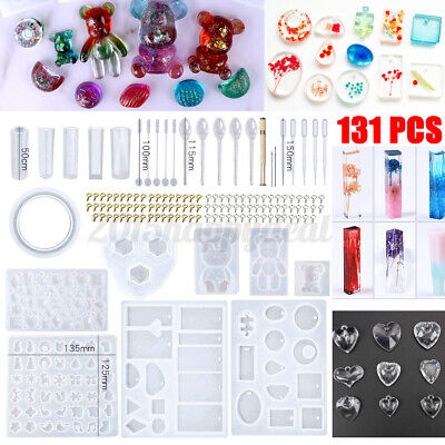 £7.99 • Buy 131Pcs Mold Tools Kit Resin Casting Molds For Crafts Silicone Epoxy Jewelry DIY