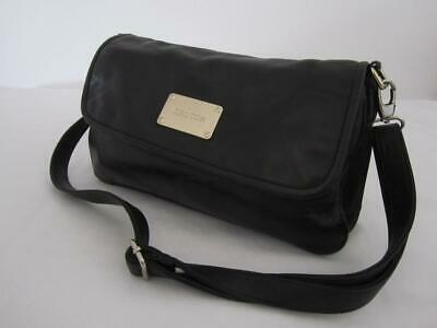 AU82.95 • Buy OROTON HANDBAG Genuine Black LEATHER Ladies Crossbody Shoulder Bag