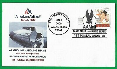 $16 • Buy American Airlines Envelope 2000 DFW Airport Ground Handling Postal Dallas Texas