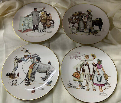 $ CDN25.25 • Buy Set Of 4 Norman Rockwell Four Seasons Plates 1984 Series For 1964 Lot Of 4