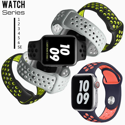 $ CDN5.41 • Buy 38/40/42/44MM For Apple Watch Series SE 6 5 4 3 IWatch Silicone Sport Band Strap