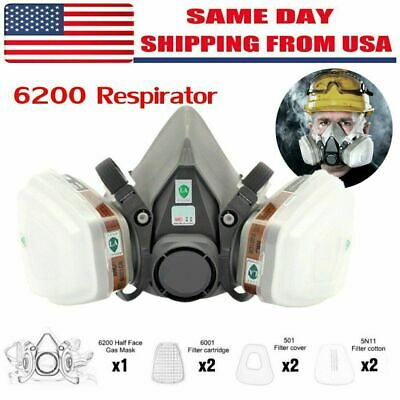 $17.99 • Buy Special Offer 7in1  Gas Mask Spray Painting 6200 Respirator Safety Reusable