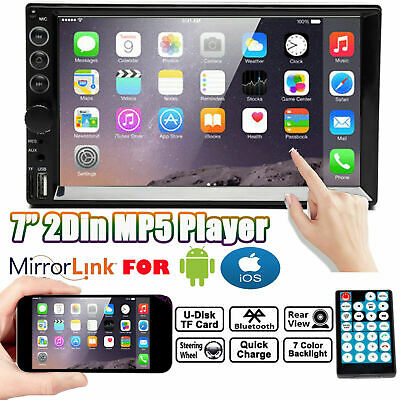 $82.20 • Buy 7  Car Stereo Radio 2DIN HD MP5 Touch Screen Mirror Link For IOS & Android GPS