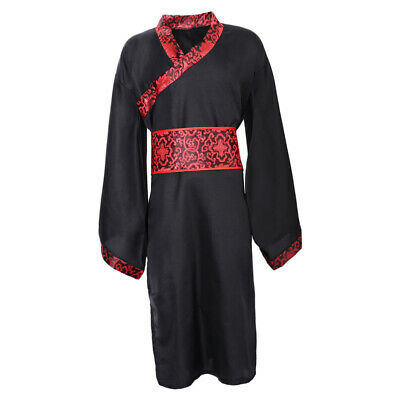 Mens Hanfu Chinese Style Traditional Clothing Tang Suit Robe Cosplay Costume • 13.39£