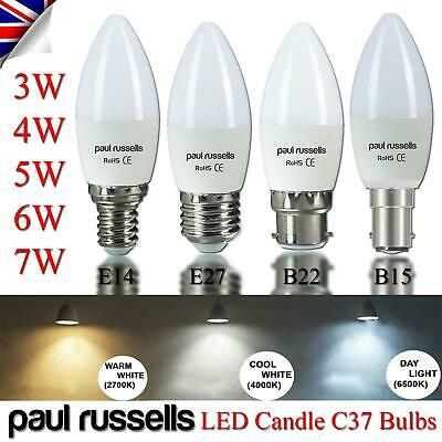 Paul Russells LED Candle Light Bulb Warm/Cool/Day White A+ Bayonet Screw In 240V • 24.99£