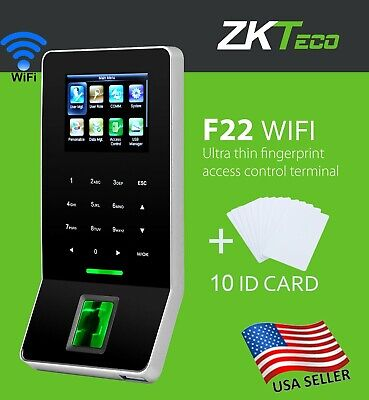 AU229.40 • Buy Access Control System Biometric Fingerprint Zkteco F22 Whit Wifi, Attendance.USA